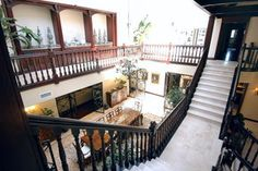 stairs and dining area