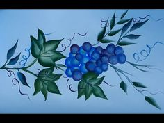 One stroke painting grapes - YouTube