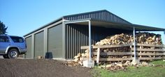 garag-with-wood-storage