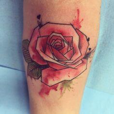 #watercolortattoo #watercolorrose #tattoorose