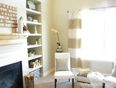striped burlap curtains -how to make cute vertical striped curtains out of burlap...easy diy