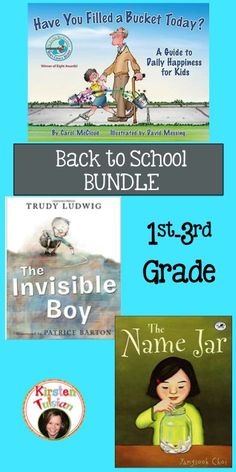 Back to School Literature Bundle - This back to school bundle includes literature products for Have You Filled a Bucket Today?, The Invisible Boy, and The Name Jar.  Perfect for any 1st-3rd grade classroom, this bundle is sure to set the tone and expectations for student behavior right from the the start!