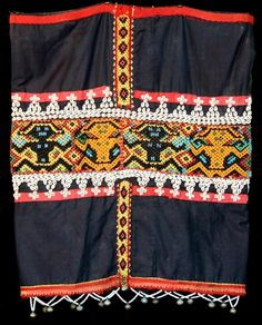 Borneo Maloh Dayak beaded bidang (skirt) from the Mahakam river area in Kalimantan.
