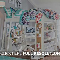 Best White Loft Beds With Desk Design