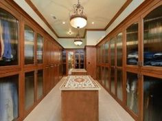 Now THIS is a walk-in closet! Absolutely amazing! #design #home