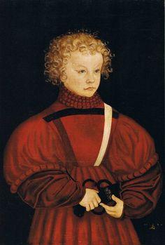 Lucas Cranach d. Ä.: Moritz von Sachsen/ Severin von Sachsen 1526 [Herstellung]). 15th century, 16th century. Doublet, Cape, Capelet, Romeo,  revels, faire, Elizabethan, Tudor, Renaissance