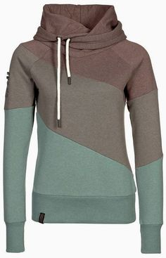 Stylish Color Pattern Womens Hoodie