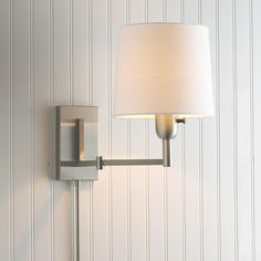 Definitively Modern Swing Arm Wall Lamp - 2 finishes