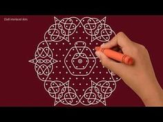 Simple Flower Rangoli Knotted Kolam Knotted Muggulu Daily Rangoli with dots Rangoli Designs Latest, Latest Rangoli, Rangoli Designs Images, Rangoli Designs With Dots, Rangoli With Dots, Beautiful Rangoli Designs, Rangoli Borders, Rangoli Border Designs, Kolam Rangoli