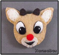 KarmaBox Design Co. - Rudolph the Red-Nosed Reindeer - Felt Hair Clips and Pins, $5.00 (http://www.karmabox.com/rudolph-the-red-nosed-reindeer-felt-hair-clips-and-pins/)