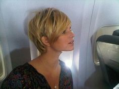 Shaggy pixie. Maybe a good way for me to ease into short hair!..seriously thinking about it!