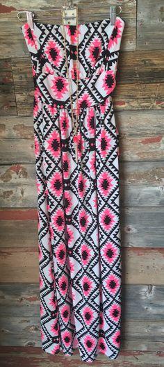 Bright Tribal Pocket Maxi Dress