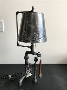 Industrial pipe lamp by Don Lee Creations