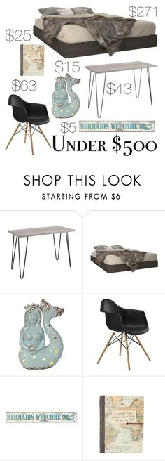 """Bedroom Makeover - Under $500"" by amateurstylist ❤ liked on Polyvore featuring interior, interiors, interior design, home, home decor, interior decorating, Ameriwood, Nexera, bedroom and bedroomunder500"