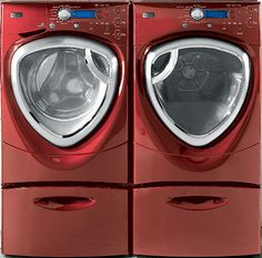 GE Profile washer and dryer-SmartDispense front load GE washers and dryers.