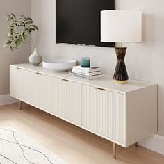 Mid Century Console, Home And Living, Living Room, Oversized Furniture, Decoration Bedroom, Drawer Fronts, Bathroom Furniture, Engineered Wood, Adjustable Shelving