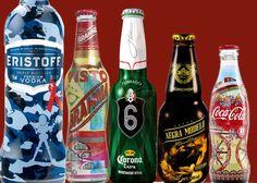#Etiquetas y mangas termoencogibles aplicables a botellas de vidrio