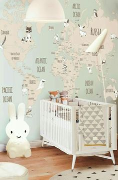 41 Ideas Baby Wallpaper Boy Playrooms For 2019 Baby Wallpaper, Little Hands Wallpaper, Room Wallpaper, Wallpaper Childrens Room, Baby Girl Nursery Wallpaper, Baby Bedroom, Baby Boy Rooms, Nursery Room, Girls Bedroom