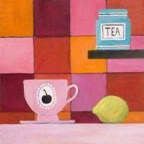 Tea cup and jar. Painting by Mariska Meijers