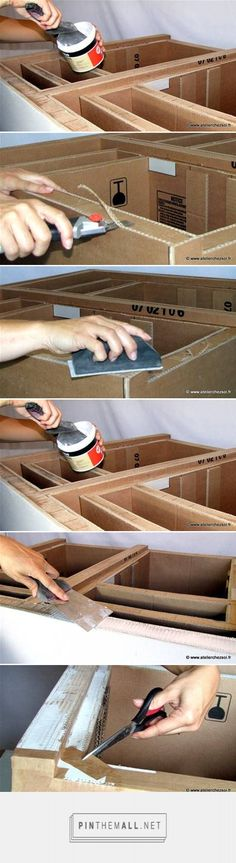 cardboard furniture detailing