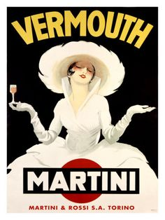 Vintage Poster - Vermouth Martini - Drinking - Alcohol