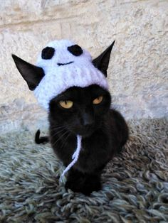 Halloween Ghost Hat for Cat, Halloween Costume, Hats for Cats, Cat Accessories - Products - gatte Halloween Costume Hats, Pet Costumes, Halloween Ghosts, Kittens Cutest, Cats And Kittens, Cute Cats, Funny Cats, Ghost Cat, Cat Hat