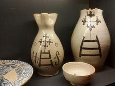Ceramiche senesi datate XIV sec.col monogramma dell'Ospedale di Santa Maria della Scala