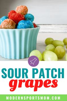 Kids enjoy hard candy like Jolly Rancher so these candy grapes, or sour patch grapes are perfect! Learn how to make them in about 10 minutes! Sour Patch Grapes, Sour Grapes, Grape Recipes, Summer Recipes, Healthy Meals For Kids, Kids Meals, Candied Grapes Recipe, Sports Snacks, Sports Party
