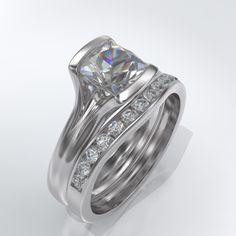 Moissanite Channel Set Wedding Band Full Eternity Ring, Eternity Bands, Snowflake Ring, Engagement Ring Styles, Anniversary Rings, Moissanite, Fashion Rings, Ring Designs, Diamond Rings
