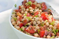 Lemon Basil Chickpea Salad [vegan + gluten free]