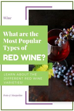 There are lots of types of red wine available – some are made from one grape while others are a blend. In this introduction to the basics of red wine, we look at the types of red wine grapes, how they compare and what flavours they have as well as the ba Red Wine Cocktails, New Year's Drinks, Wine Drinks, Alcoholic Drinks, Cooking With Red Wine, Cooking Wine, Sweet Red Wines, Sweet Wine, Types Of Red Wine