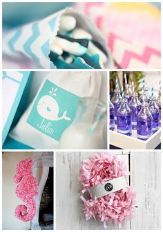 Love the idea of the little shark candies as party favors