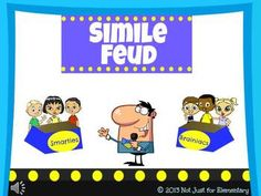 Simile Feud Powerpoint Game - perfect lesson to introduce or end figurative language unit!