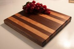 Butcher Block Style Walnut and Anigre Cutting by WoodenYaKnow, $50.00