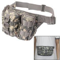 Multifunction Canvas Waist Bag (Camouflage)