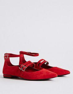 Leather Strap Pump Shoes | M&S