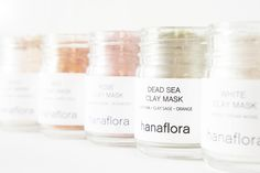Image of Set of 3 Clay Masks - Gold Clay Mask \ Rose Clay Mask / Dead Sea Clay Mask \ TRAVEL SIZE