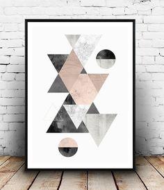 Aquarell Druck abstrakte Poster skandinavische Grafik von Wallzilla