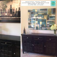 Updated kitchen nook area Kitchen Nook, Updated Kitchen, Home Staging, Double Vanity, Mirror, House, Furniture, Home Decor, Decoration Home