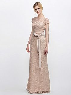 Betheal - escote corte recto vestido de damas de honor de encaje con fajas - EUR €117,60