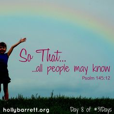 Day 8: All people may know | Holly Barrett
