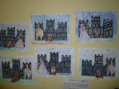 Ecole maternelle Barbier - Grands : les châteaux-forts Chateau Fort Moyen Age, 5th Grade Art, Dragons, Château Fort, Art Themes, Medieval Art, Knight, Photo Wall, Arts And Crafts