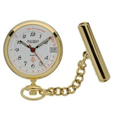 Gold Plated Quartz Fob Watch