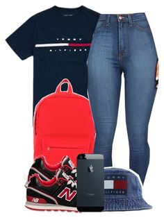 """10:7:14"" by codeineweeknds ❤ liked on Polyvore featuring Hilfiger, Herschel, New Balance and Tommy Hilfiger"