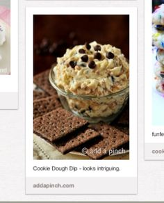 Pinterest pick: Chocolate Chip cookie dough dip