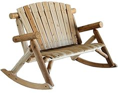 Furniture | Love Seat | Rocker | Patio | Deck ...•Made of insect and weather resistant white cedar •Made from a renewable resource and byproduct of the log home industry •It has curved seat slats for greater comfort •Made in USA