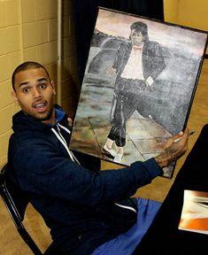 Chris Brown and Michael Jackson painting Chris Brown Outfits, Chris Brown Style, Breezy Chris Brown, Chris Brown Quotes, Chris Brown Pictures, Best Apple Crisp Ever, Kim Basinger Now, Michael Jackson Painting, Chris Brown Wallpaper