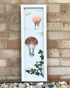 """Seacycle Studio on Instagram: """"After finding all those scallop sells today I felt it would be a good time to showcase this artwork. 'Up, Up and away!' Is 20 x 60cm and…"""" Natural Crafts, Candle Sconces, Sea Glass, Wall Lights, Felt, Candles, Studio, Artwork, Instagram"""