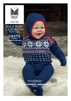 Skigenser til hele familien – Dale Garn Knitting For Kids, Crochet For Kids, Baby Knitting, Crochet Baby, Baby Lernen, Baby Barn, Free Pattern Download, Knit Baby Sweaters, Sweater Knitting Patterns