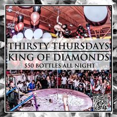 Hello South Florida!!  Its Here Again | #ThirstyThursdays  @ The Worlds Famous #KingofDiamonds   You Heard About, Now Be Apart Of  Miami's New Thursday Night Destination...  Where Every Bottle Is $50, Yes $50!! Come See Why Its The New #1 Thursday Night Party...  For More Info 754.422.2909 / 954.336.2242 {kik.me @ugkmiami}